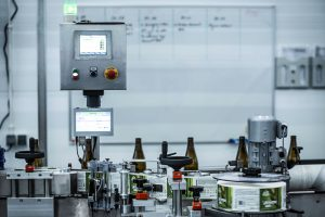 Labeling machinery for brewery industry